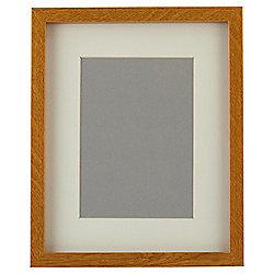 "Tesco Basic Photo Frame Oak Effect 8 x 10""/5 x 7"" with Mount"