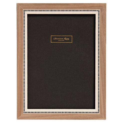 Addison Ross Marquetry Miki Frame in Grey - 8 in x 10 in