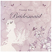 Enchanted Bridesmaid Wedding Thank You Card