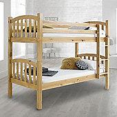Happy Beds American 3ft Wooden Bunk Bed 2 X Memory Foam Mattress