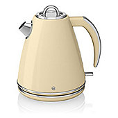 Swan SK24030CN 1.5 Litre, Jug Kettle, with 3000W, and 360 Degree Base, in Cream