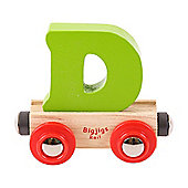 Bigjigs Rail Rail Name Letter D (Green)