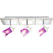 Home Essence Cattleya 3 Light Ceiling Spotlight in Chrome and Nickel Matte