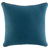 Contrast Piped Plain Cushion, Teal