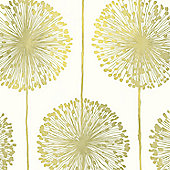 Muriva Dandelion Wallpaper - Green