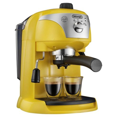 DeLonghi Motivo EC220Y Espresso Coffee Machine - Yellow