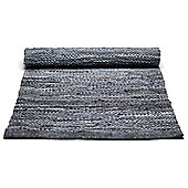 Rug Solid Dark Grey Rug - 300cm x 200cm (9 ft 10 in x 6 ft 6.5 in)