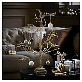 Gold Glitter Twig Tree Christmas Home Decoration