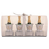 Set of Four 'Champagne in Ice Bucket' Novelty Candles