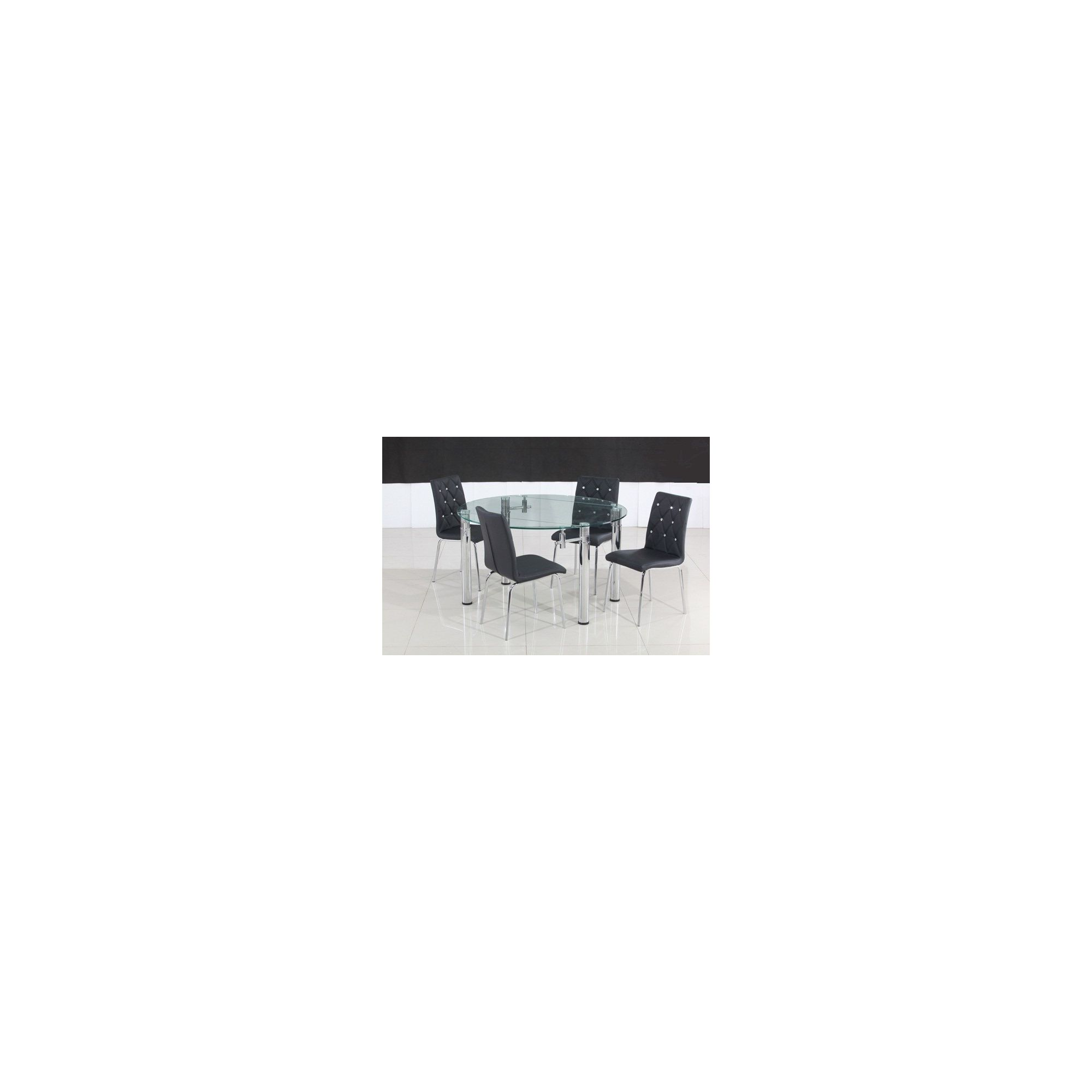 Solway Furniture Oslo 5 Piece Extending Dining Table Set - Back at Tesco Direct