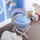 Izziwotnot Time to Play Wicker Moses Basket White (Petit Henri)