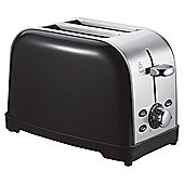 Tesco 2 Slice SS Toaster - Black