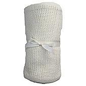 Tesco Cot Bed Cellular Blanket, Cream