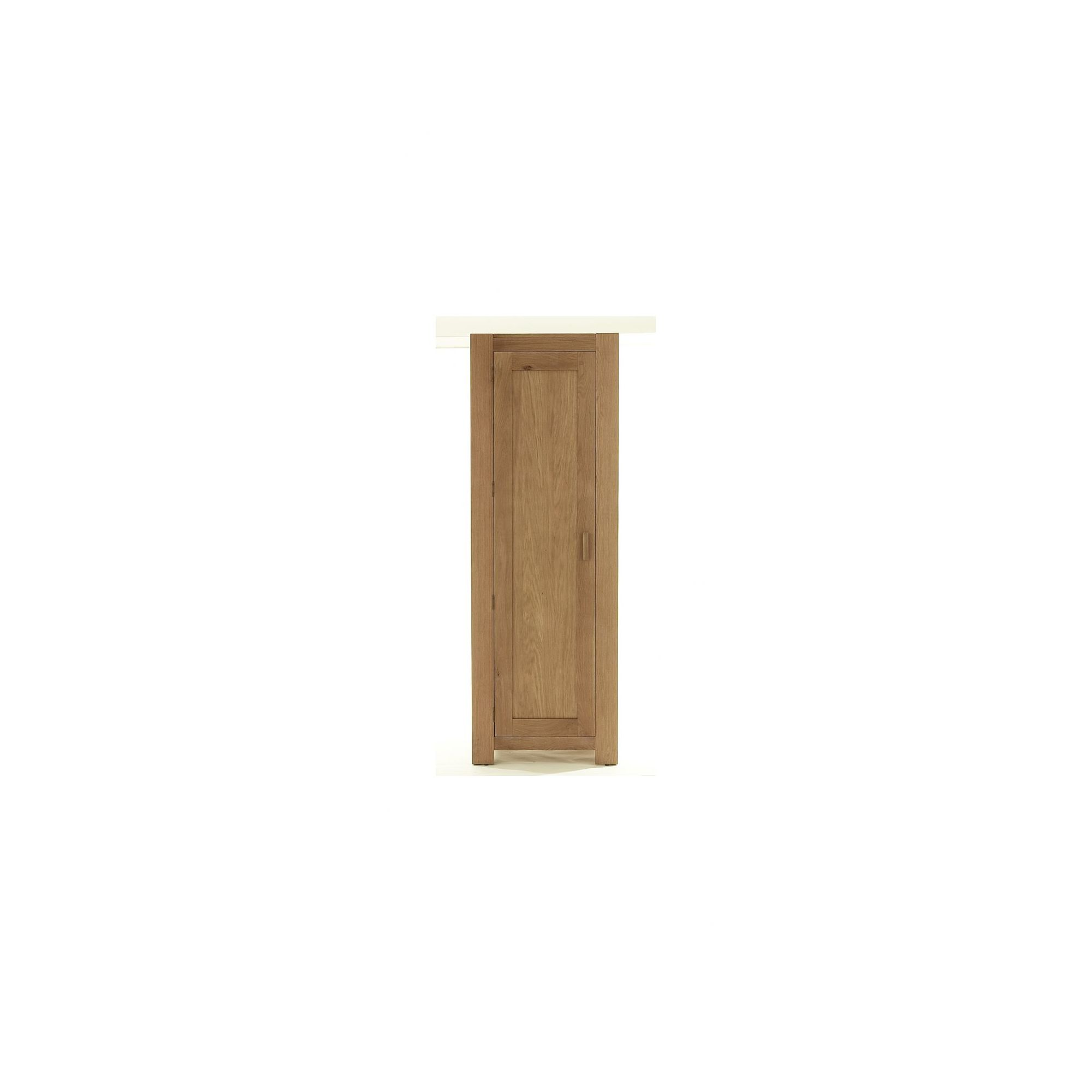Thorndon Block Bedroom Single Wardrobe in Natural Matured Oak at Tesco Direct
