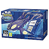 Blue Skeleton 2DS Console and Pokemon Alpha Sapphire