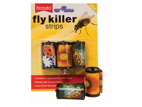 Rentokil Ff105 Fly Killer Strips X3