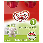 Cow & Gate First Milk 4 x 200ml