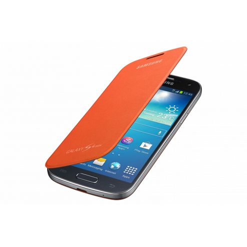 Samsung Original Flip Case For Galaxy S4 Mini - Orange