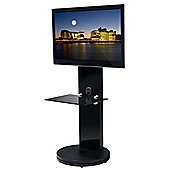 B-Tech Black Cantilever TV Stand with Swivel