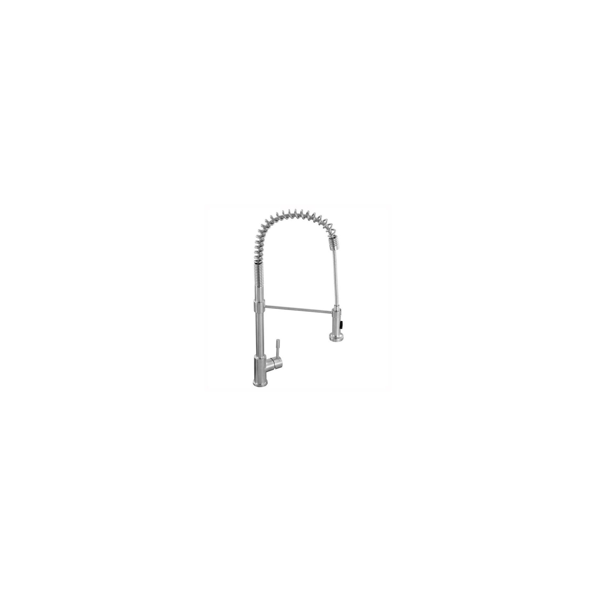 Franke Swiss Pro Pull-Out Nozzle Kitchen Sink Mixer Tap, Stainless Steel at Tesco Direct
