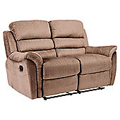 Chloe Fabric Small Recliner Sofa Natural