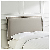 Franklin Headboard Grey Linen King