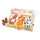 Bigjigs Toys BJ444 Farm Animal Shape Sorter