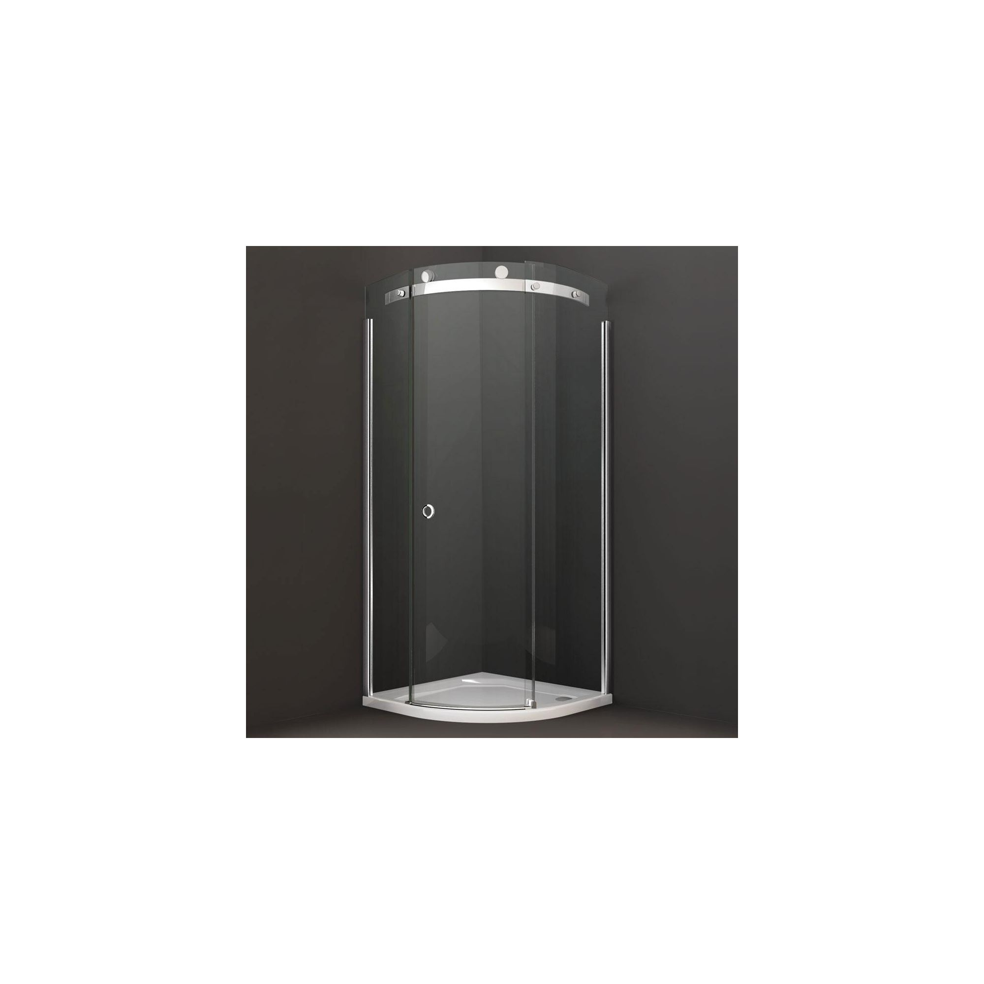 Merlyn Series 10 Quadrant Shower Door  800mm x 800mm  10mm Clear Glass  Right Handed
