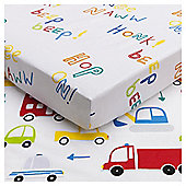 Tesco Transport Toddler 2pk sheet