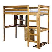 Rimini High Bed Student Set With 4 Drawer Bedside Antique