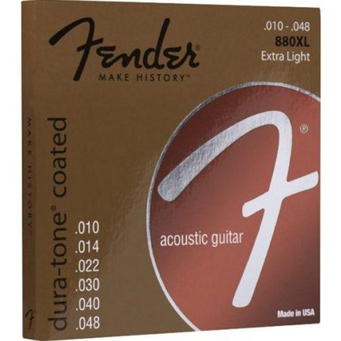 Fender Dura-Tone 880XL Coated Acoustic Strings 10-48