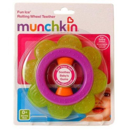 Munchkin Rolling Wheel Teether Purple and Green