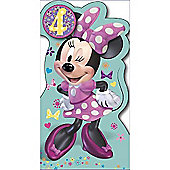 Disney Minnie Mouse Birthday Card - 4 Years