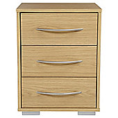 Newport 3 Drawer Bedside Oak