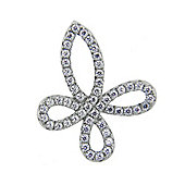 The REAL Effect Rhodium Plated Sterling Silver Cubic Zirconia Twist Pendant