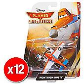 Disneys Planes Fire & Rescue Diecast Pontoon Dusty (Bulk value 12 Pack)