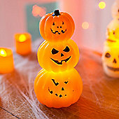 Stack of Battery Wax LED Halloween Pumpkins
