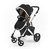Tutti Bambini Riviera Plus Silver Pushchair - Black / Taupe