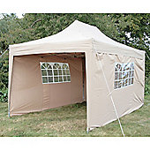 Airwave Pop Up Gazebo Fully Waterproof 4.5x3m in Beige