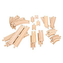 BIGJIGS RAIL Straights & Curves Expansion Pack