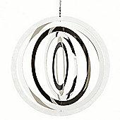 Large Stainless Steel Circle Hanging Garden Windspinner