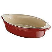 Denby Ceramic Medium Oval Dish, Cherry Red