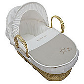 PreciousLittleOne Moses Basket (My Little Star Cream)