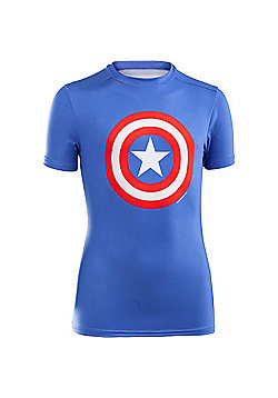 Under Armour Alter Ego Short Sleeve Compression Baselayer Captain America - Blue