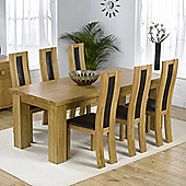 Mark Harris Furniture Barcelona Solid Oak Dining Table with Havana Chairs