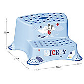 Disney Mickey Mouse Double Step Stool - Blue Clouds