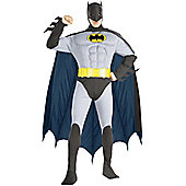 Adult Muscle Chest Batman Super Hero Grey Medium