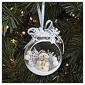 Weiste Blue Snowman Open Christmas Bauble