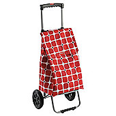 Typhoon Poppy Square Shopping Trolley with Adjustable Handle