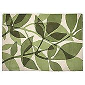 Shadow Leaf Rug 160 x 230cm, Green